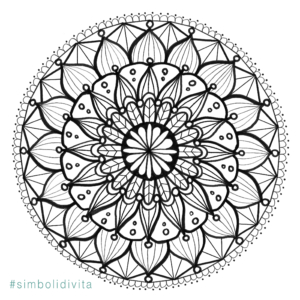Mandala Da Colorare Simboli Di Vita